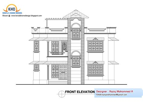 home plan elevation kerala design floor plans house