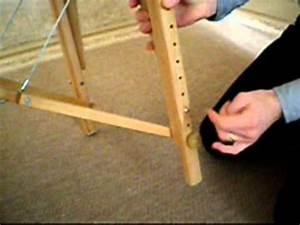 Pied De Table En Bois : table de massage pliante r glage des pieds youtube ~ Dailycaller-alerts.com Idées de Décoration