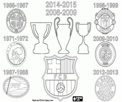 ausmalbilder dreifache krone des fc barcelona zum ausdrucken