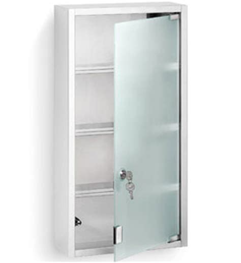 Locking Medicine Cabinet by Stainless Steel Locking Medicine Cabinet In Bathroom