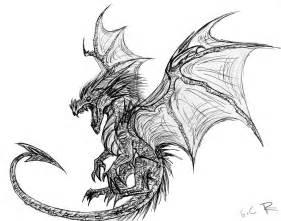 Skyrim Dragon Drawings