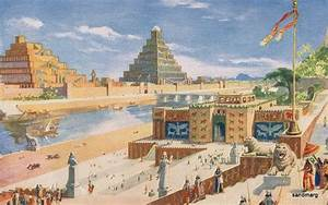 Antique Chromolithograph Babylon the Great City of ...