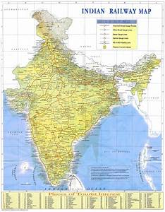 Travel By Train In India Indian Railways Map