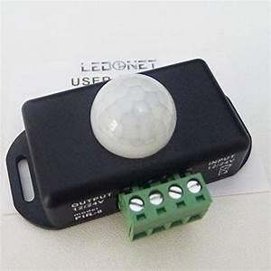 Ledenetr 12v 24v pir sensor led dimmer switch motion timer for 12v garden light dimmer