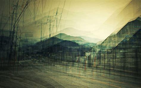 digital art urban street buses wallpapers hd desktop