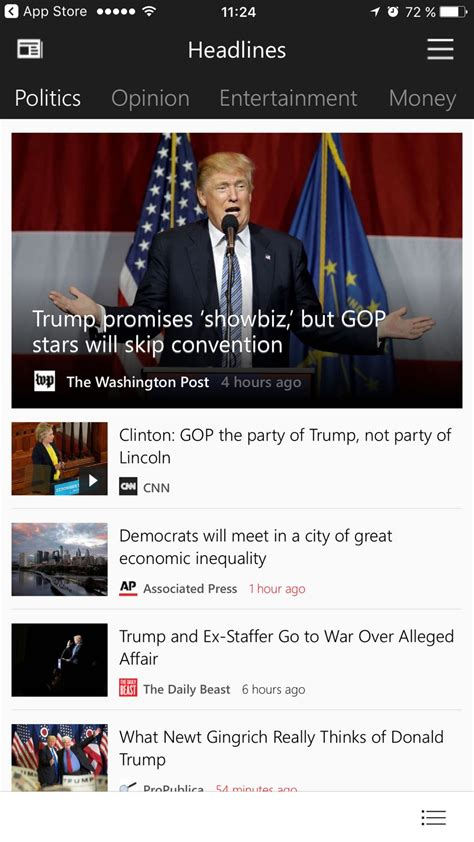 Microsoft Updates the iPhone Version of Its News App