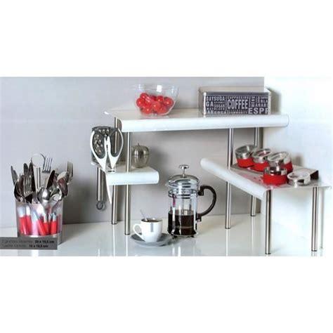 etagere angle cuisine étagère d angle cuisine blanc achat vente etagère