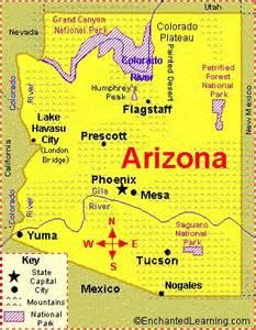 Arizona State Map Cities