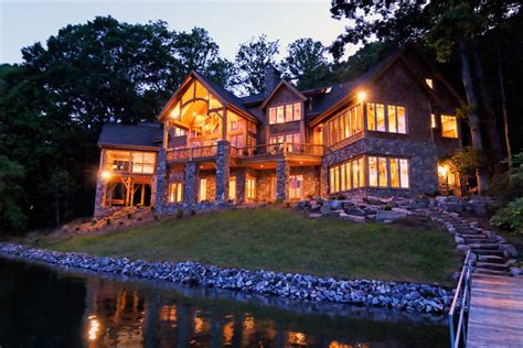 luxury lake retreat architectural designs house plan gg rustic exterior  york