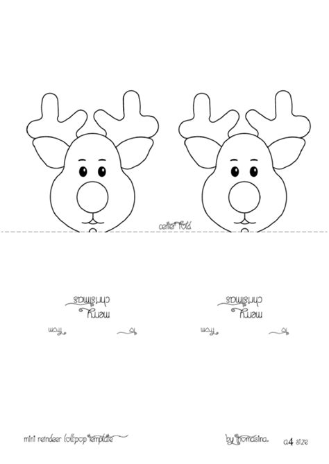 Deer Lollipop Cover Template Pdf by Mini Reindeer Head Lollipop Template Printable Pdf Download