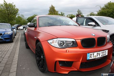 matte orange bmw 1m in frozen valencia orange