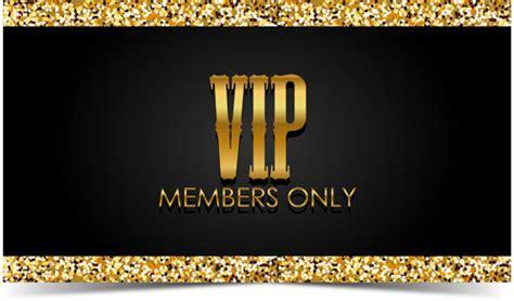golden  black vip members cards vector