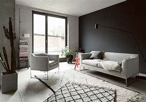 un salon gris pour une deco chic et intemporelle elle With decoration salon en gris