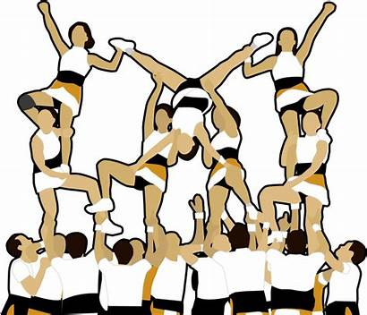 Clipart Cheer Cheerleader Cheerleading Competitive Pep Team
