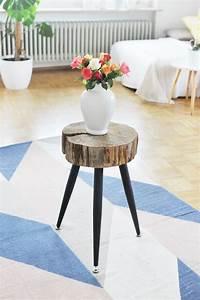 Tisch Aus Holzscheiben : m bel selbst machen beistelltisch aus holzscheibe bauen do it yourself diy m bel tisch ~ Cokemachineaccidents.com Haus und Dekorationen