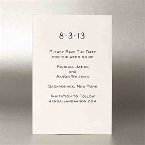 Save the dates martha stewart weddings for Wedding etiquette invitations save the date