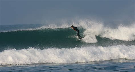 Surfing At Inch Strand
