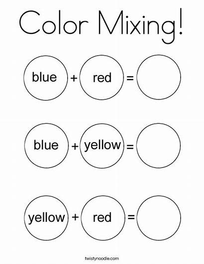 Coloring Mixing Preschool Twistynoodle Purple Pages Printable