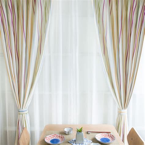 Drapes Geometric Pattern - geometric pattern curtains with striped lines in casual way