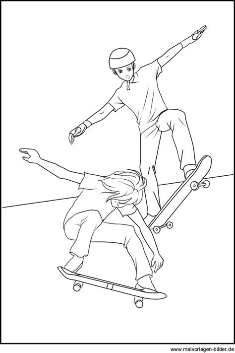 skaten skateboard ausmalbilder und malvorlagen