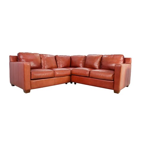 thomasville leather sofa with chaise sectionals used sectionals for sale