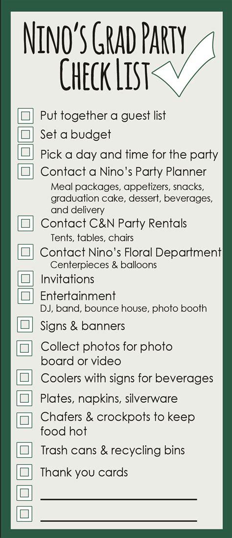graduation checklist template graduation planning a checklist