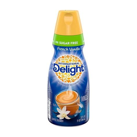 13 grams of protein per serving, low carb and a trim healthy mama fp! International Delight Sugar Free French Vanilla Coffee Creamer - 32 fl oz in 2020 | French ...