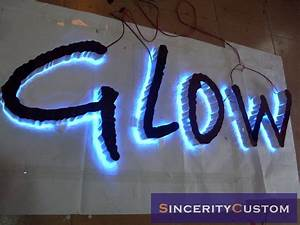 custom made lighted waterproof stainless steel halo With backlit led sign letters