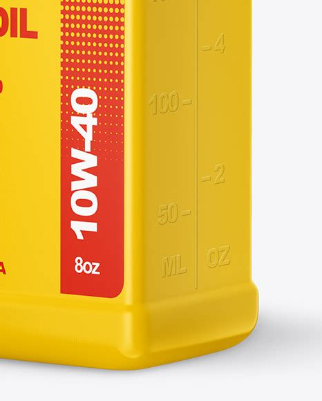 Psd file consists of smart objects. Engine Oil Bottle Mockup Free