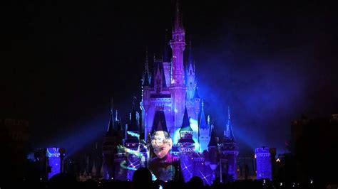 Disneyland Light Show by Tokyo Disneyland Cinderella Castle Light Show Frozen