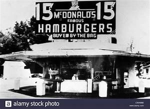 The original McDonalds restaurant, featuring a ten item ...