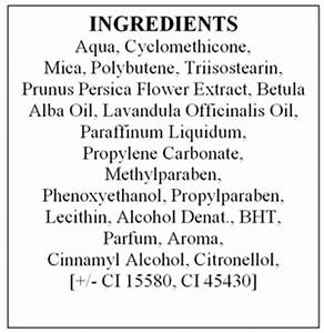 how to read cosmetic labels part 2 With cosmetics ingredients list