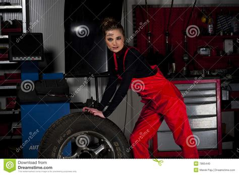 Frau In Garage by Beautiful Garage Stock Photo Image 7865440