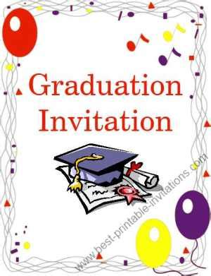 free printable preschool graduation invitations free printable graduation invitation 570