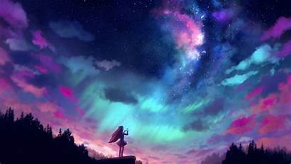 Stars Catching Anime Background 4k Resolution Wallpapers