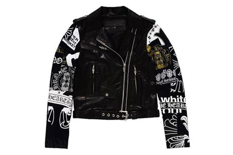Off-white X Chrome Hearts Leather Jacket To Releasse At
