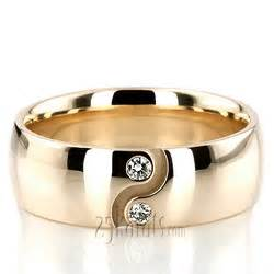 hh dw101247 14k gold yin yang diamond wedding ring set With yin yang wedding rings