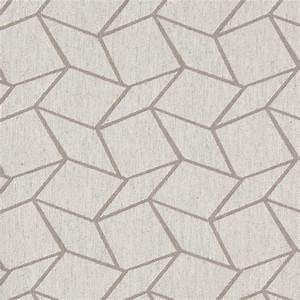Grey and Off White Geometric Boxes Upholstery Fabric By ...