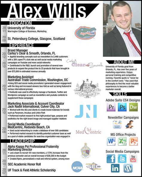 resume infographic alex wills digital ppc adwords fb
