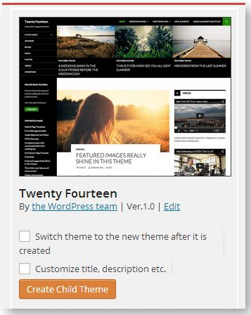 wordpress child theme creator plugin mike matera dot