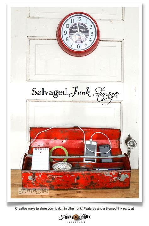 Junky storage ideas   Creative, Tool box and Charging stations