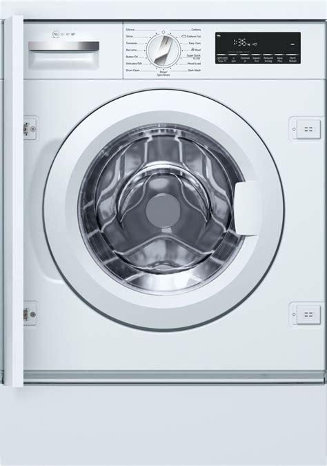 washing kitchen cabinets neff w544bx0gb white built in washing machine 3357