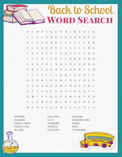 free printable word search back to school inspired fun