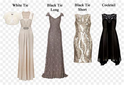 black tie white tie dress code formal wear dress png