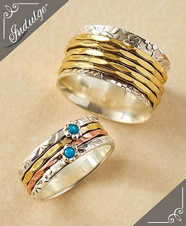 sterling silver spinner rings the lakeside collection