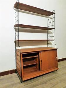 Caisson Bibliotheque Modulable : rare bibliotheque string avec caisson nisse strinning 1960 ~ Edinachiropracticcenter.com Idées de Décoration