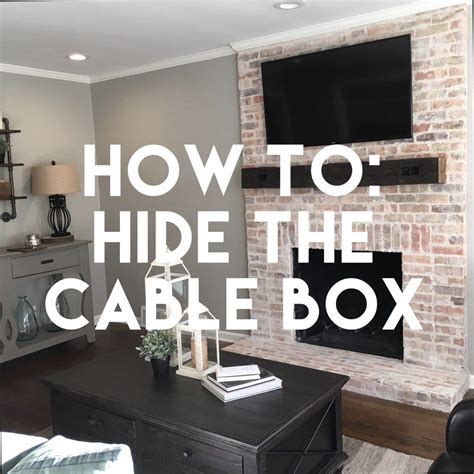 hide  cable box mindfully gray home cable
