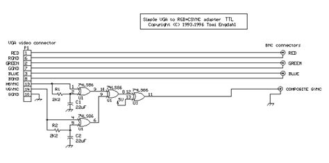 Vga Extension Cable Wiring Diagram by Wiring Schemes And Of Cable For Connections Vga