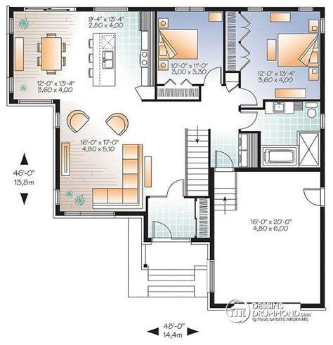 w3283 modèle contemporain plan de maison moderne grand