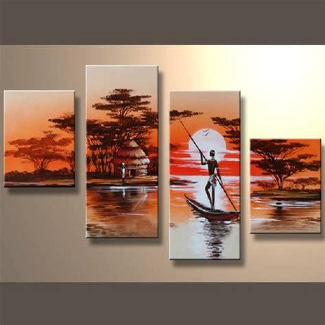 tableaux africain d 233 coration murale afrique peinture huile sur toile tableaux pas cher
